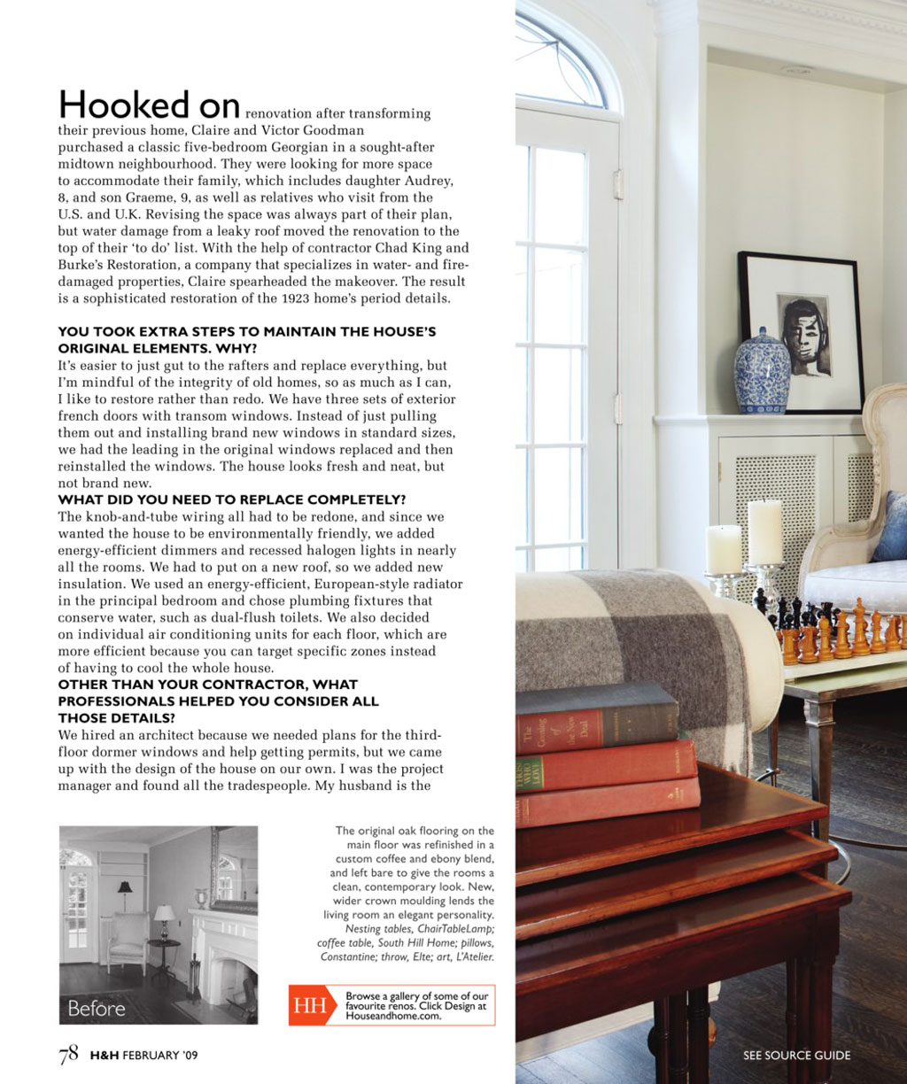 house and homes magazine feature | burke's restoration